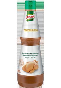 Knorr Professional tekoča kokošja osnova 1 l - Zaokrožen okus jedi brez dodajanja ojačevalcev okusa in barvil.