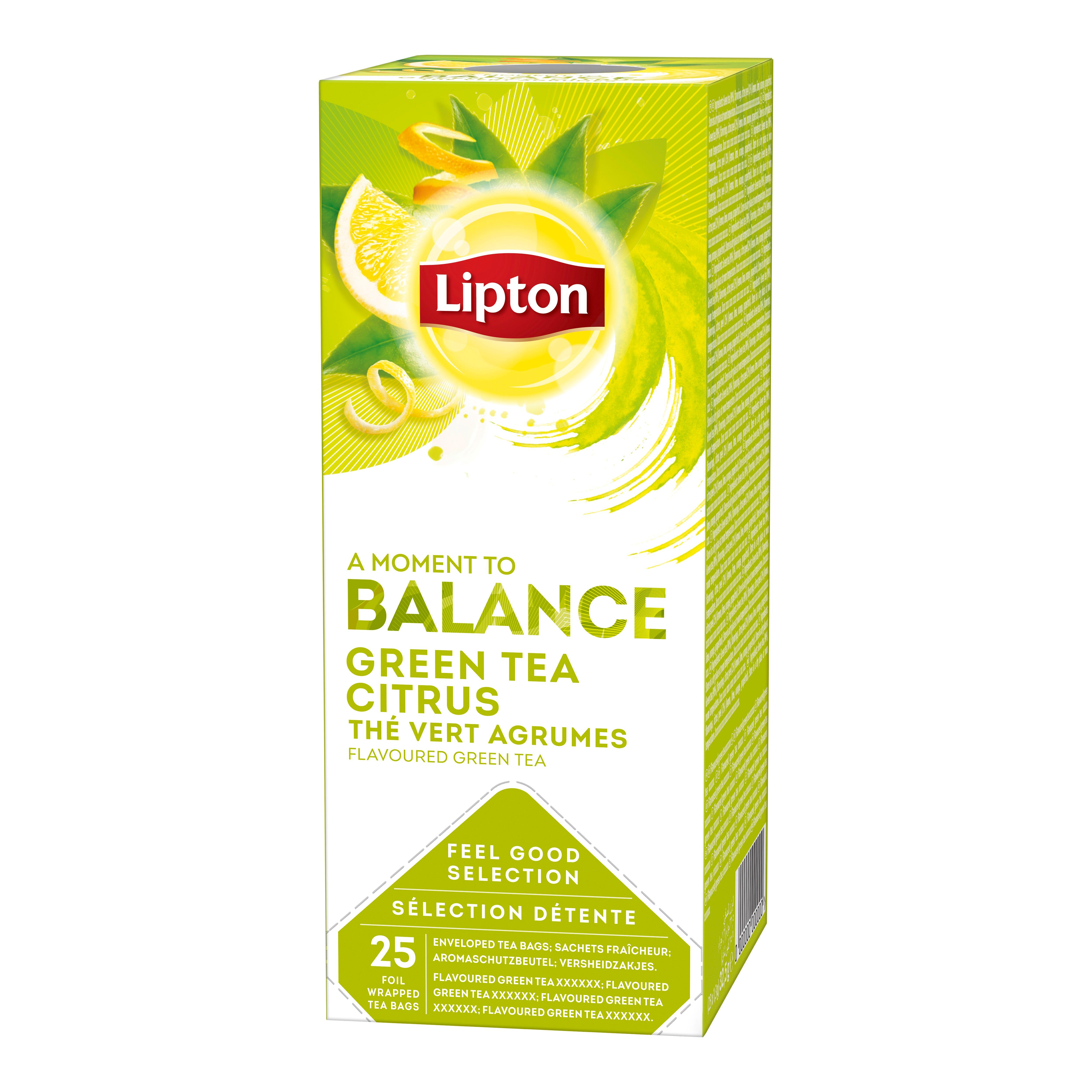 Lipton zeleni čaj s citrusi 25/1 - Na voljo so različni Lipton čaji: zeliščni, črni, zeleni in sadni.