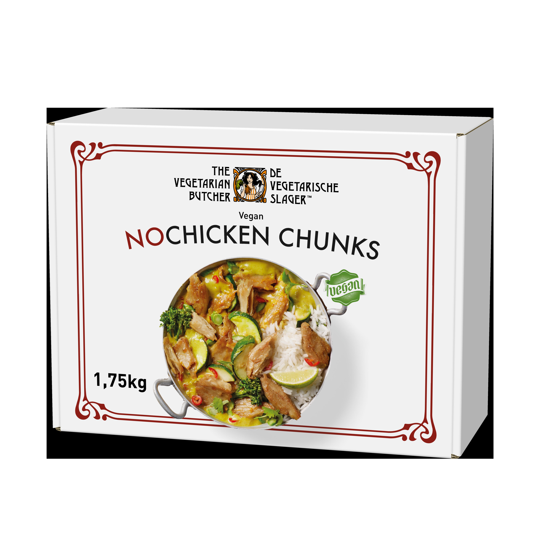 The Vegetarian Butcher NoChicken Chunks - Rastlinski sojini koščki 1,75 kg - Izdelki na osnovi rastlinskih beljakovin, okus in tekstura mesa