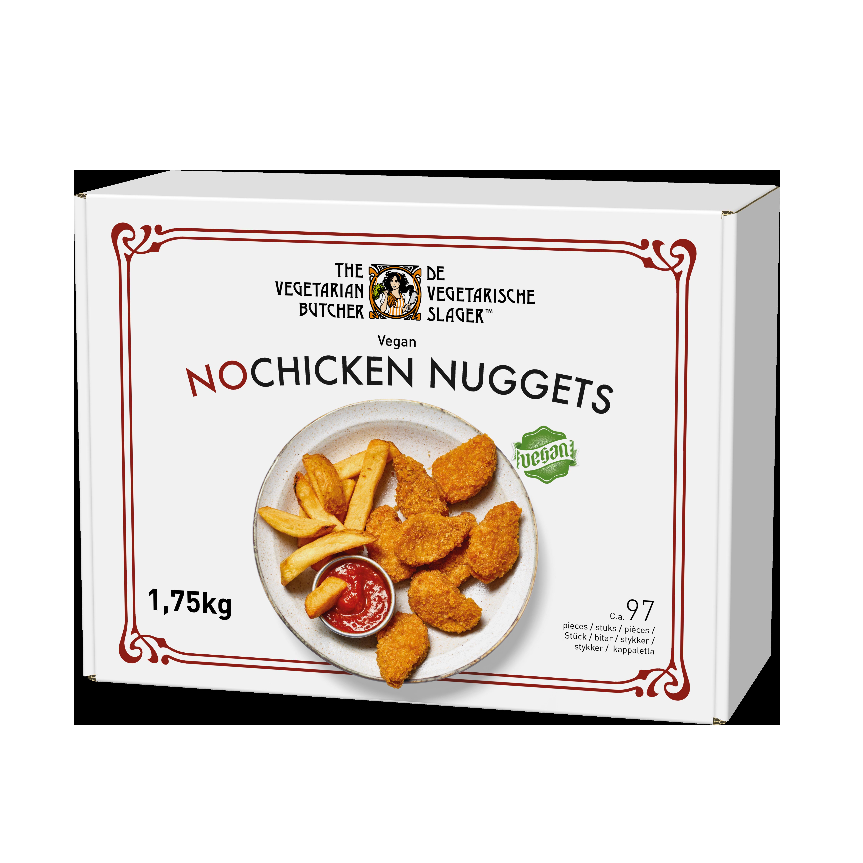 The Vegetarian Butcher NoChicken Nuggets - Rastlinski medaljoni 1,75 kg - Izdelki na osnovi rastlinskih beljakovin, okus in tekstura mesa