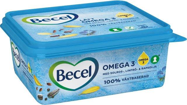 Becel Lättmargarin Omega 3 12 x 600 g  -