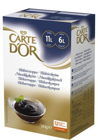 CARTE D'OR Blåbärssoppa/Blåbärskräm 1 x 1,8 kg