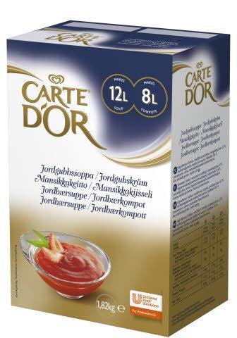 CARTE D'OR Jordgubbssoppa/Jordgubbskräm 1 x 1,82 kg