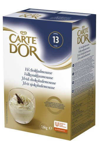 CARTE D'OR Vit chokladmousse 1 x 1,6 kg