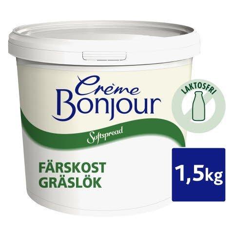 Crème Bonjour Gräslök, Laktosfri, 1 x 1,5 kg - Nytt artnr v 19 2019 - 67741000 -