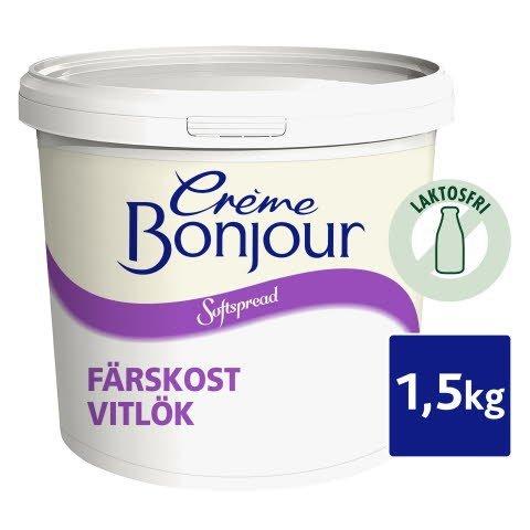 Crème Bonjour Vitlök, Laktosfri, 1 x 1,5 kg