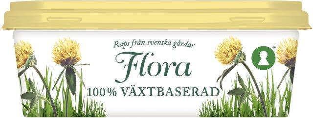 Flora 100 % Växtbaserat Smörgåsfett, 16 x 400 g