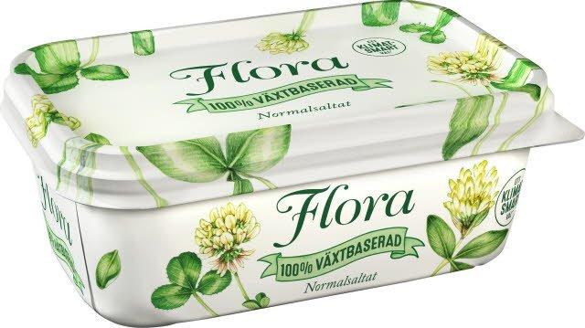 Flora 100 % Växtbaserat Smörgåsfett, 16 x 400 g    -