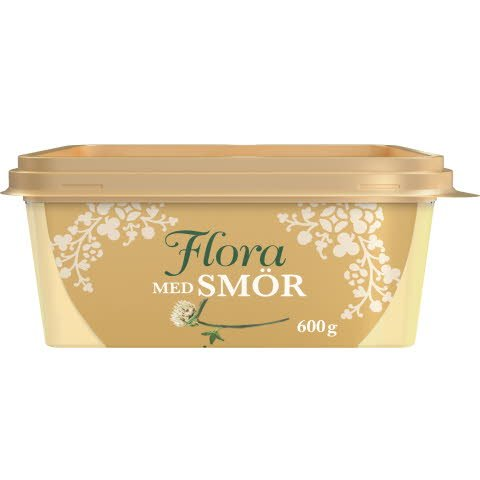 Flora med smör, 12 x 600g