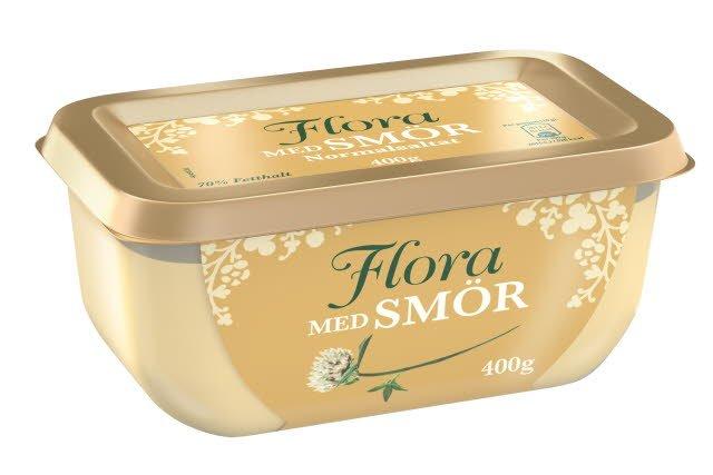 Flora med smör, 16 x 400g