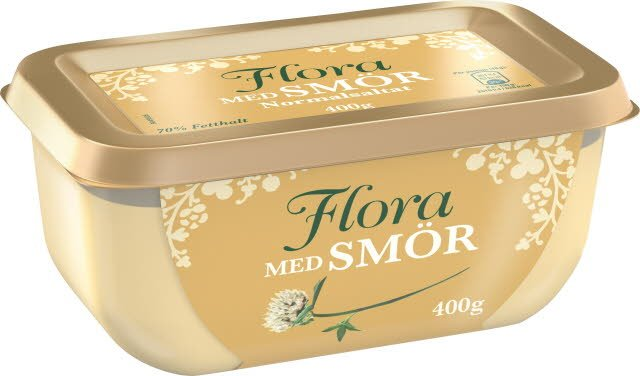 Flora med smör, 16 x 400g  -