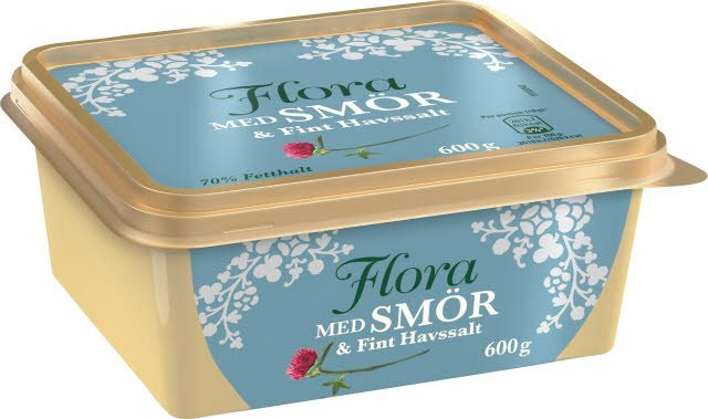 Flora med smör och fint havssalt, 12 x 600 g  -