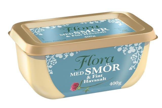 Flora med smör och fint havssalt, 16 x 400 g