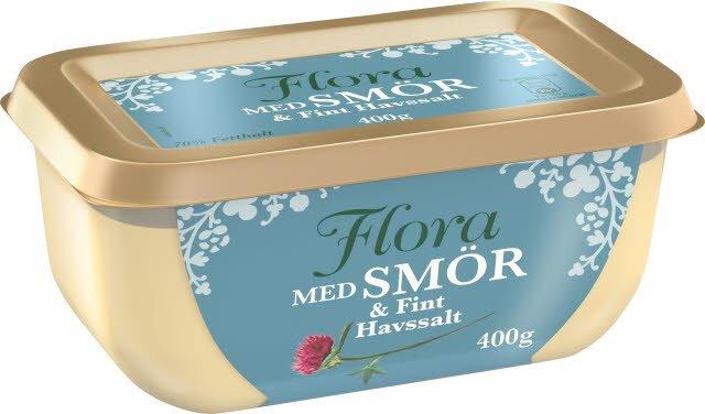 Flora med smör och fint havssalt, 16 x 400 g  -