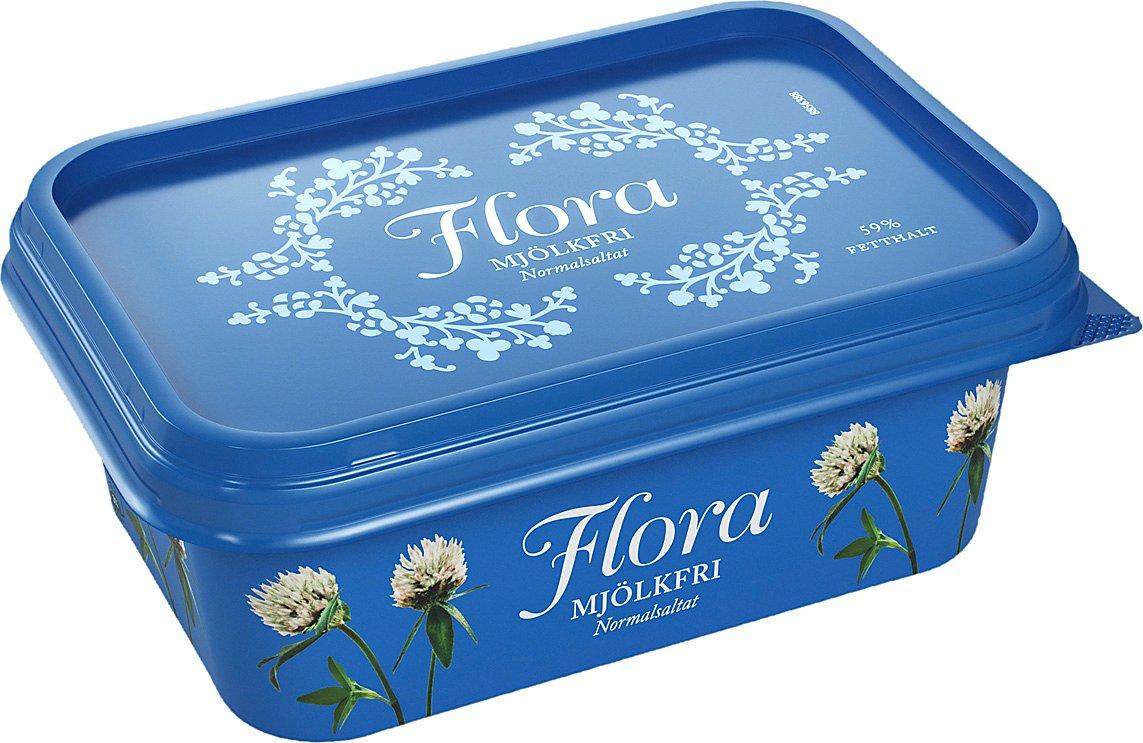 Flora Mjölkfritt Smörgåsmargarin 16 x 400 g