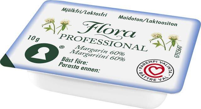 Flora PROFESSIONAL Mjölkfritt Smörgåsmargarin, portion, 200 x 10 g
