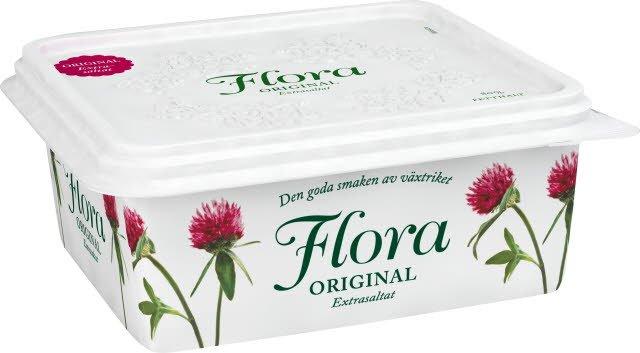 Flora Smörgåsmargarin extrasaltat 12 x 600 g