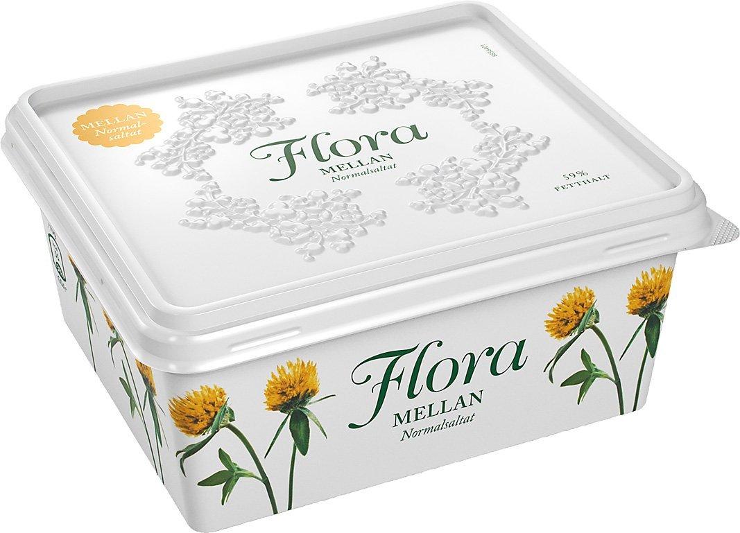 Flora Smörgåsmargarin Mellan normalsaltat 12 x 600 g