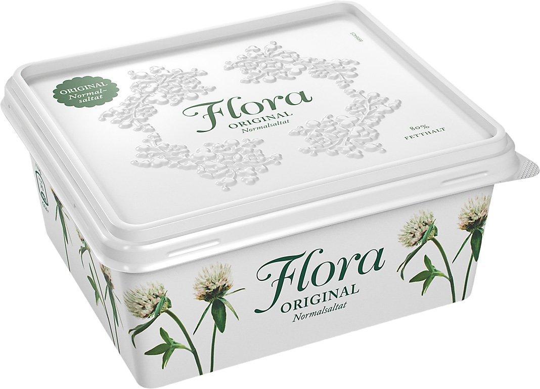 Flora Smörgåsmargarin normalsaltat 12 x 600 g