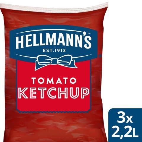 Hellmann`s Ketchup Påse för dispenser, 3 x 2,5 kg
