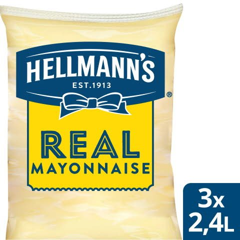 Hellmann`s Mayonnaise Påse för dispenser, 79%, 3 x 2,25 kg