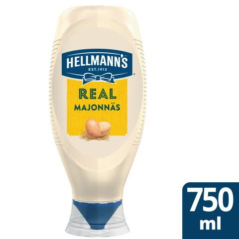 Hellmann`s Real Mayonnaise flaska , 78 %, 6 x 750 ml -