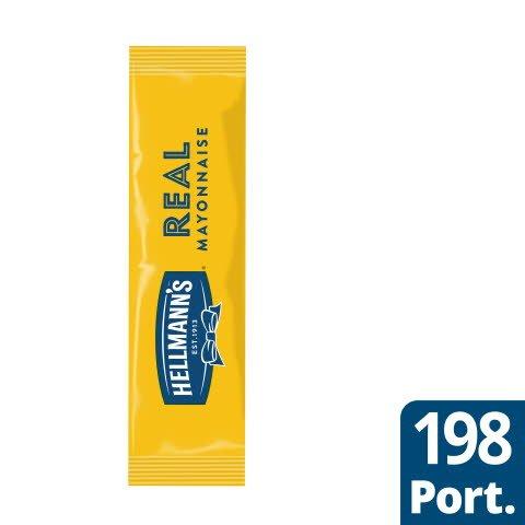 Hellmann`s Real Mayonnaise portion, 79%, 198 x 10 ml