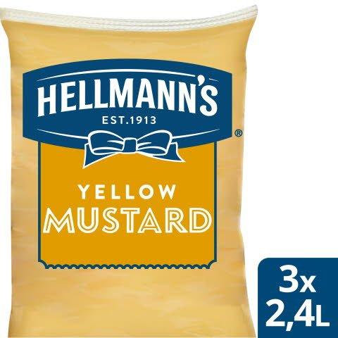 Hellmann`s Senap Påse för dispenser, 3 x 2,5 kg
