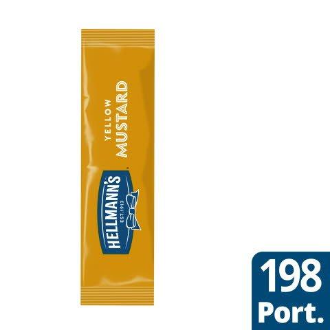 Hellmann`s Senap portion,198 x 10 ml