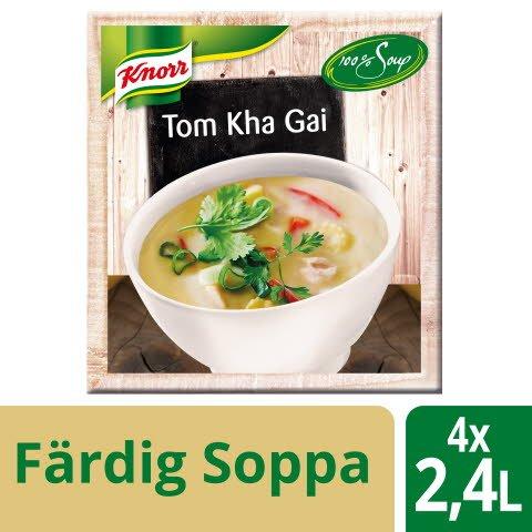 Knorr 100 % Soppa Tom Kha Gai 4x2,4L