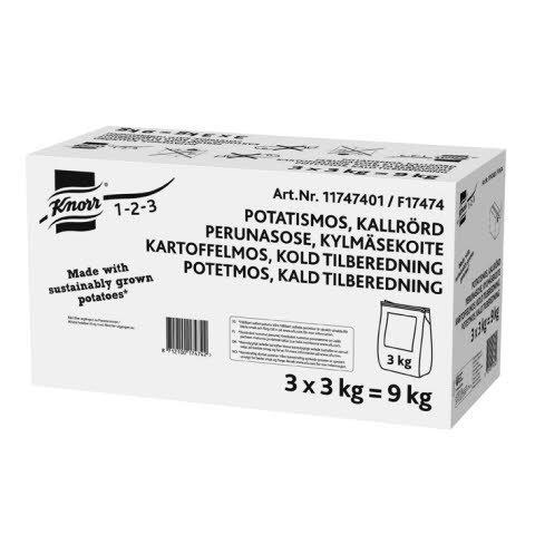 Knorr Cold Base Potatismos, kallrörd 3 x 3 kg