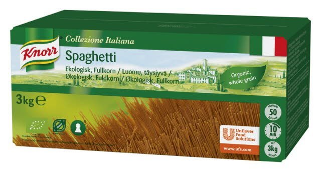 Knorr Ekologisk Spagetti, Fullkorn 1 x 3 kg