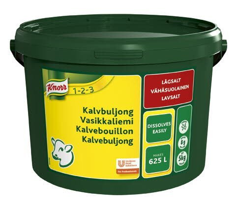 Knorr Kalvbuljong, lågsalt, pulver 1 x 5 kg