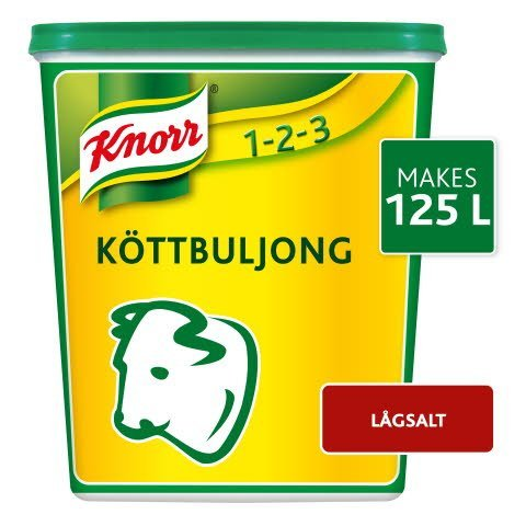 Knorr Köttbuljong, lågsalt, pulver 3 x 1 kg