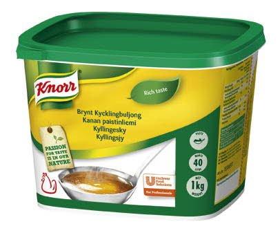 Knorr Kycklingbuljong, Brynt, pasta 2 x 1 kg