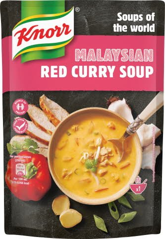Knorr Red Curry Soup, 6 x 390 g