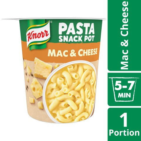 Knorr Snack Pot Mac & Cheese, 8 x 62 g