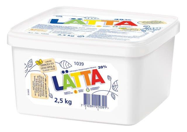 LÄTTA Lättmargarin, storbytta 1 x 2,5 kg