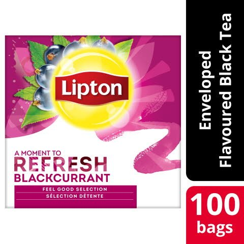 Lipton Blackcurrant Tea 12 x 100 påsar