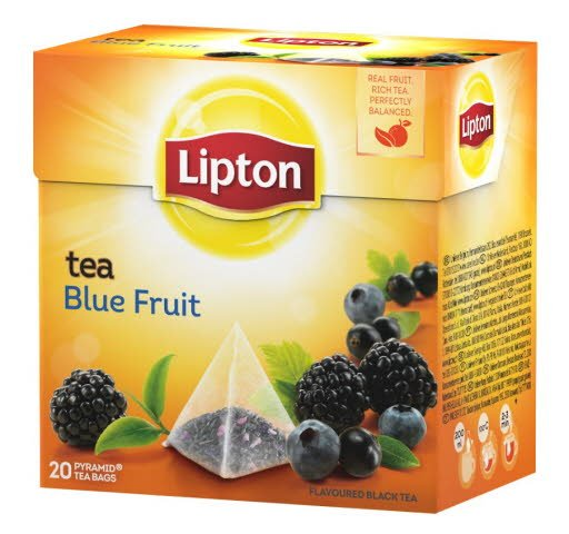 Lipton Blue Fruit Tea, pyramid (utan kuvert) 12 x 20 påsar -