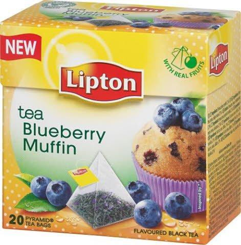 Lipton Blueberry Muffin Tea, pyramid (utan kuvert) 12 x 20 påsar -