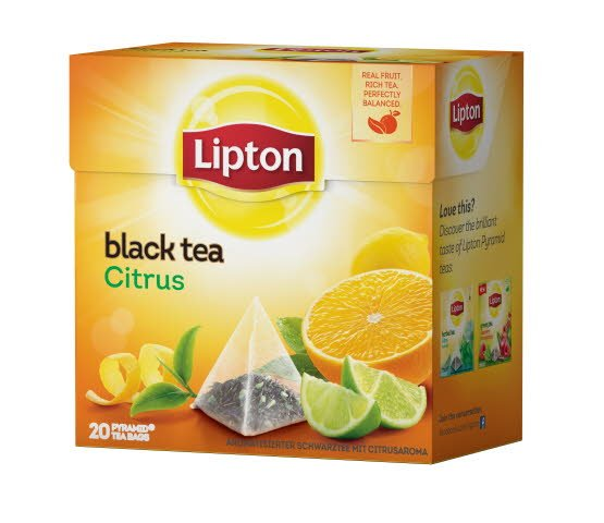 Lipton Citrus Tea, pyramid (utan kuvert) 12 x 20 påsar