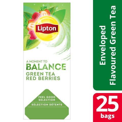 Lipton Classic Grönt te Röda bär, 6x25 st