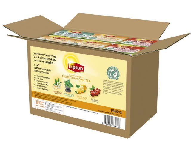 Lipton Classic Te Rainforest Alliance Certifierad Sortimentskartong 6 x 25 påsar