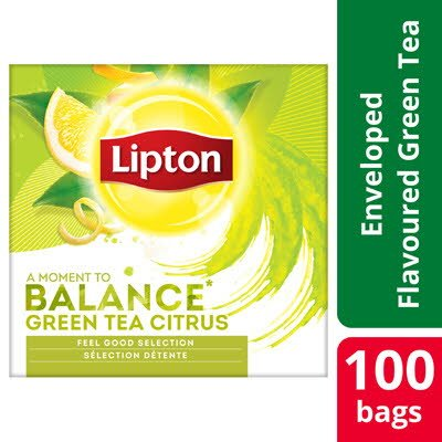 LIPTON Green Tea Citrus 12 x 100 påsar
