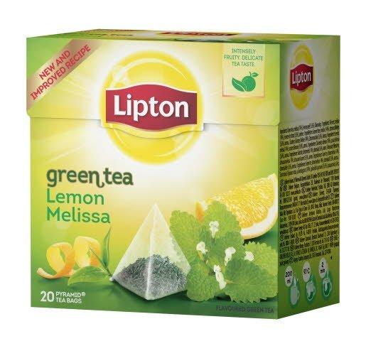 Lipton Green Tea Lemon Melissa, pyramid (utan kuvert) 12 x 20 påsar
