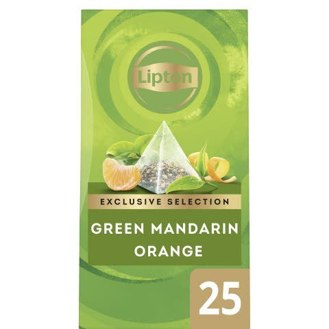 Lipton Green Tea Mandarin Orange, pyramid 6 x 25 påsar  -