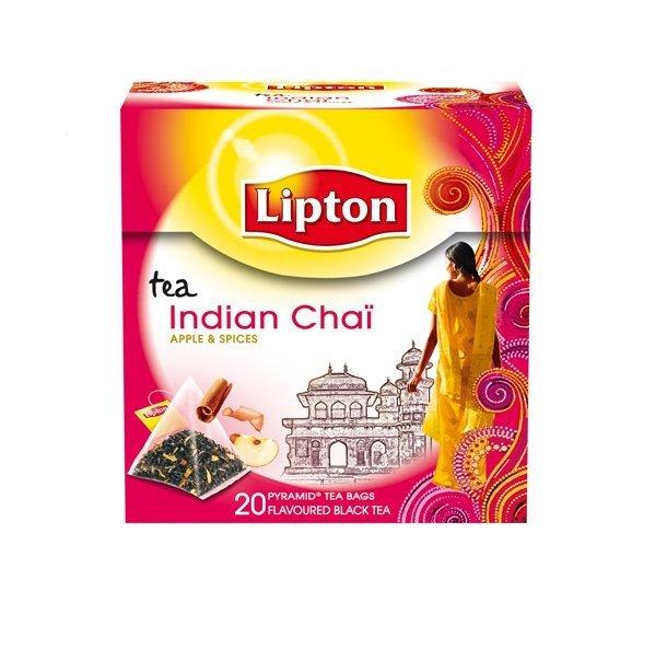 Lipton Indian Chai Tea, pyramid (utan kuvert) 12 x 20 påsar