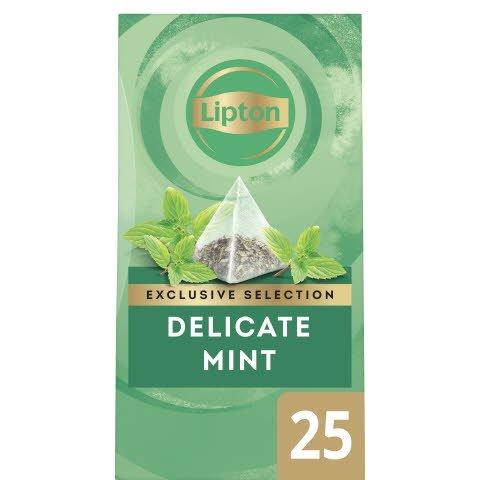Lipton Mint Infusion Örtte, pyramid 6 x 25 påsar  -