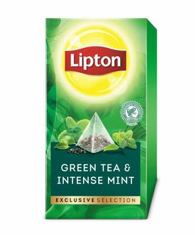 Lipton Mint Infusion Örtte, pyramid 6 x 30 påsar